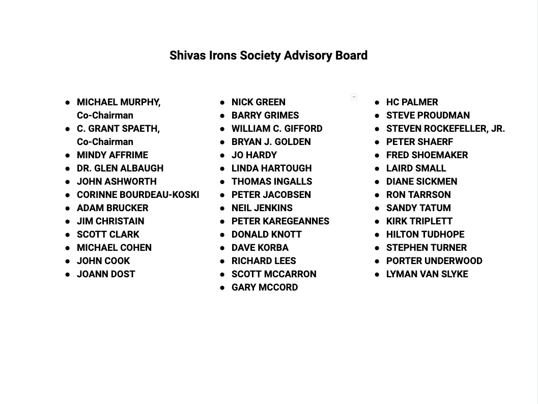 list of Advisory Board members
